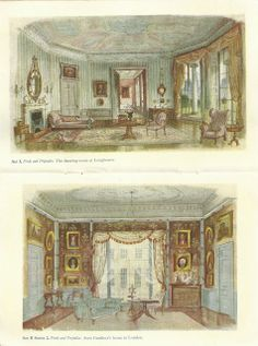 Rex Whistler: set designs for theatre production of 'Pride and Prejudice'