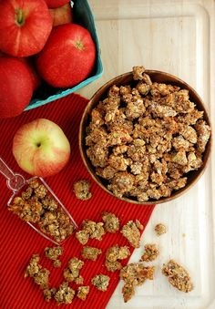 Apple Pie Paleo Granola : The fam may have to deal with this for Christmas this year ;)