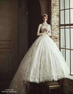 Romantic brides will find this incredibly breathtaking royalty-inspired ball gown from Clara Wedding hard to resist!