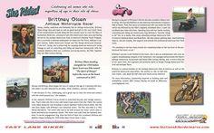 SHE RIDES! Meet Brittney Olsen and enter her two-wheel adventurous life! Read more at www.flbdelmarva.com. #sherides #womenriders #ladybikers #bikergirl #girlsonmotorbikes #flbd #bikerbuzz #delawarebikers #delmarvabikers #marylandbikers #virginiabikers #baltimorebikers #motorcycle #pabikers #njbikers #bikersonpinterest  #motorcyclesonpinterest