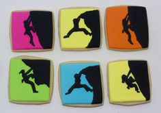 Rock climber cookies - adorable for Jack and Lan's wedding. Shower or wedding favors, welcome basket item...many possibilities