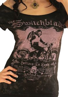 Women's The Switchblades Off Shoulder Tee by Serpentine Clothing