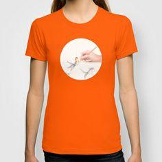 Goldfishing by Lars Furtwaengler   Colored Pencil   2011 T-shirt by Lars Furtwaengler - $22.00