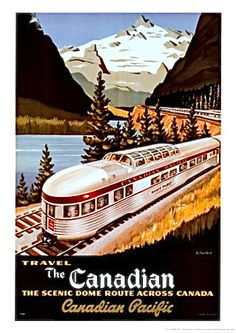 1950's The Canadian Train Travel Poster