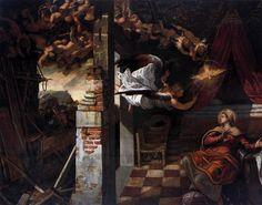 La Anunciación, 1583-1587 - Tintoretto