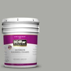 BEHR Premium Plus 5-gal. #PPF-39 Cool Granite Zero VOC Eggshell Enamel Interior Paint-240005 at The Home Depot
