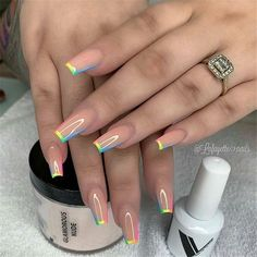 In summer I always like to wear a lot of color on my nails. Not only on my nails but my clothing too haha. So these super cool nails are perfect for upcoming spring and summer. They are colorful but… Perfect Nails, Gorgeous Nails, Amazing Nails, Amazing Makeup, Fabulous Nails, Swag Nails, My Nails, Neon Nails, Grunge Nails