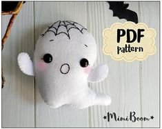 Etsy :: Your place to buy and sell all things handmade Felt Ornaments Patterns, Felt Crafts Patterns, Felt Crafts Diy, Felt Diy, Easy Patterns, Animal Patterns, Halloween Sewing, Halloween Tutorial, Halloween Patterns