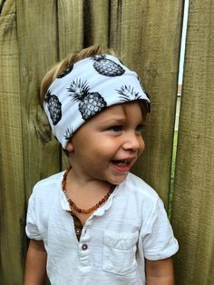 4f45d3d285f Pineapple print baby boy and toddler headband