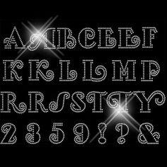 CAJ F700 Flirt Rhinestone Font