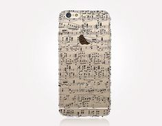 Transparent Music Sheet iPhone Case  Transparent Case  by CRCases