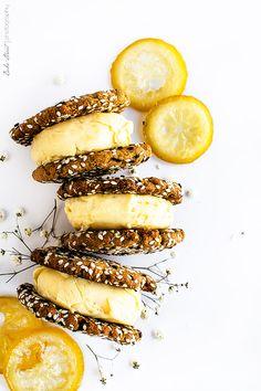Helado de lemon curd con galletas de tahini - Bake-Street.com