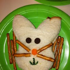 Fun Easter kid snack-Bunny sandwiches!