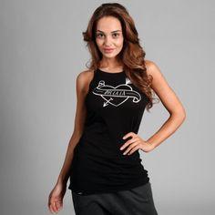 TANKTOP OH HEART BLACK  | Nie zwlekaj i sprawdź! | SHOWROOM - SHWRM.pl Tank Tops, Showroom, Stuff To Buy, Black, Heart, Women, Fashion, Moda, Halter Tops