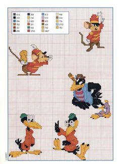 Il topo Timoteo amico di Dumbo - magiedifilo.it punto croce uncinetto schemi gratis hobby creativi