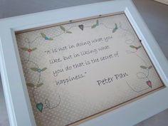 Peter Pan nursery art print unframed baby shower gift  8 x 10 art poster decor