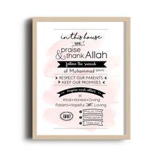 Islamic Typography Art Print - Family Rules
