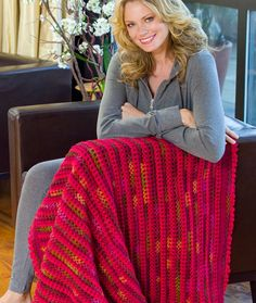 RED!!- Love & Kisses Throw Crochet Pattern | Red Heart