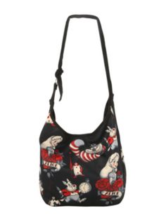 Disney Alice In Wonderland Tattoo Hobo Bag. Now $15.60 at Hot Topic. Oh my gosh, for a Disney freak like me, this is so amazing!!!♥