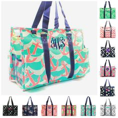 Hey, I found this really awesome Etsy listing at https://www.etsy.com/listing/270579823/monogrammed-large-beach-bag-organizing
