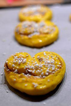 Lussehjärtan med vaniljfyllning | Therése mat & bak