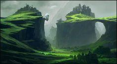 Ilustraciones de paisajes por Andreas Rocha