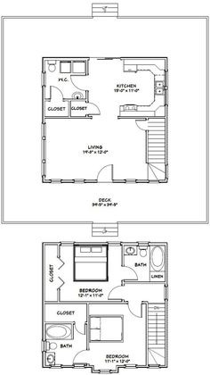 18 39 by 15 39 cabin floor plans google search addition 24x24 house plans