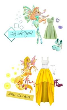 """""""Winx Club"""" by jazziesue ❤ liked on Polyvore featuring Landybridal, Charlotte Russe, Miadora, women's clothing, women's fashion, women, female, woman, misses and juniors"""