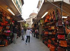 Leather Market, Florence - bought myself a beautiful coat and belt here ;)