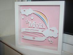 This beautiful personalized papercut is an excellent, thoughtful gift to celebrate a new birth, christening or birthday and would look wonderful on any nursery or bedroom wall. This frame makes a wonderful keepsake for both parent and child and would be sure to be cherished for years to come. Can be customized with 3 lines of information such as special names, dates, places or weight. Just be sure to add this information to the notes box when ordering. PLEASE double check all spellings and…
