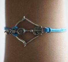 Arrow antique silver bow and arrow braceletDark by xinxinbracelet