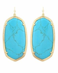 Kendra Scott Danielle Earrings in Turquoise #KendraScott
