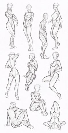Copy's and Studies:  Kate-FoX fem body's by WonderingMind23: