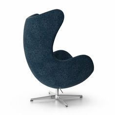 Jacobsen Egg Chair - Arne Jacobsen is one of the most well-known furniture designers of the century. Known best for his Egg Chair, Swan Chair, and Series 7 Chairs, . Blue Dining Room Chairs, Accent Chairs For Living Room, Cafe Chairs, Pink Chairs, Black Chairs, Upholstered Chairs, Cheap Desk Chairs, Metal Chairs