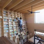 A Japanese Home Designed Around a Climbable Earthquake-Proof Bookshelf