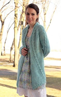 French Braid Cardigan by tanislavallee.    Yarn purchased: Tanis Fiber Arts in Smoke.