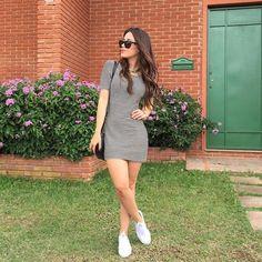 """Agatha Braga no Instagram: """"Coração lotado de gratidão! ☺️ muito amor por esse look mega confortável @lemiercollection , esse vestidinho é incrível, só mudar o sapato e os acessórios e ele se encaixa perfeitamente em várias ocasiões ! Amo @lemiercollection"""""""
