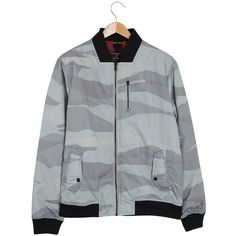 Roamers & Seekers Mountains Arctic Grey Camo Bomber Jacket: Roamers & Seekers created a winning bomber last season, with a unique camouflage print. So for it has been recreated in arctic in greys and a rich barolo pop lining inside.  External chest pocket with zip slider covers Lower double feature pocket with branded snaps Front zip closure with branded zip puller and internal storm guard Blackboard colour rib hem and cuffs Squared off rib collar Internal chest pocket Herringbone hanger…