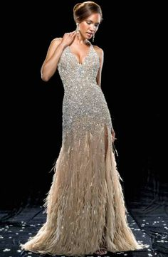 Possibly the most perfect dress in the world: GP's crystal/sequin/feather dress in her last scene of Country Strong ~ Mac Duggal Couture