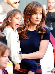 Star Tracks: Monday, November 18, 2013 | MOM AT WORK | Jennifer Lopez pulls double duty on Sunday, taking care of twins Max (not pictured) and Emme, 5½, on the Hollywood set of her new movie The Boy Next Door.