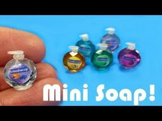DIY Miniature Softsoap Inspired Soap Dispensers - Dollhouse Crafts - YouTube