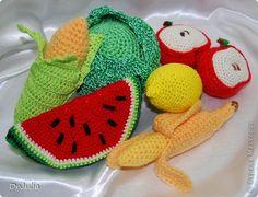 Поделка изделие Вязание крючком Фрукты/Овощи крючком Пряжа фото 1