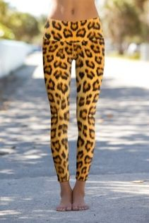 Om Shanti Clothing Leggings Leaopard Skin