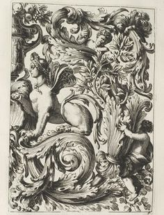 Jean Le Pautre (Lepautre or Lepaultre) (1618-1682) has been described as the most important ornament engraver of the 17th century. His prodigious output extended to more than 2000 prints, mostly from his own original designs.    He was not only the originator of the grandiose Louis XIV style but was also responsible for disseminating and popularising its full lavish repertoire throughout Europe. Le Pautre's often over-elaborate and flamboyant designs frequently included arabesques…