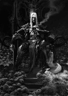 Fantasy anti-hero Elric, drawn by Adrian Smith.