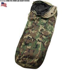 実物 新品 米軍GORE-TEX Improved Modular Sleeping Bag System ウッドランドカモ / 寝袋 シュラフ ゴアテックス