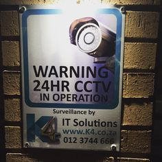 Look out for our signs!! #cctv #k4