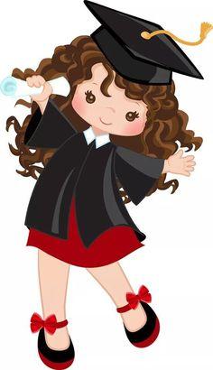 Graduation Clip Art, Graduation Crafts, Kindergarten Graduation, Graduation Decorations, School Decorations, Cute Clipart, Grad Parties, Pre School, Cute Cartoon