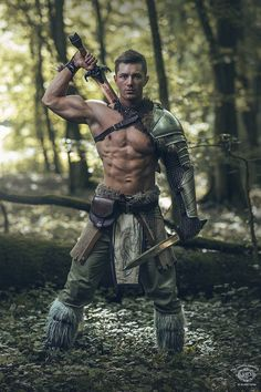 m Barbarian leader forest hills wilderness Celtic Warrior by Mathieu Degrotte on … Fantasy Male, Fantasy Armor, Medieval Fantasy, Dark Fantasy, Fantasy Fighter, Armadura Medieval, Celtic Warriors, Female Warriors, Armor Clothing