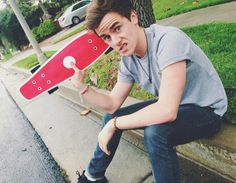 Connor with his new Penny Board